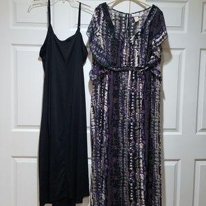 2 Piece Maxi Dress